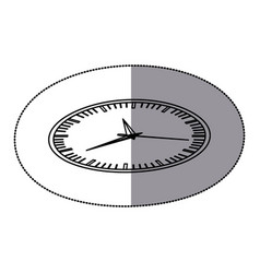 sticker silhouette display stopwatch graphic icon vector image vector image