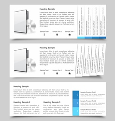 Web Slide Templates vector image