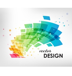 Colorful design element on white background vector image vector image