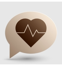 Heartbeat sign Brown gradient icon vector image vector image