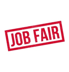 Job Fair rubber stamp vector image