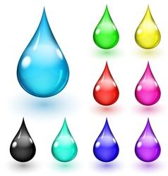 Multicolored drops vector image