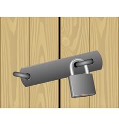 padlocked door vector image