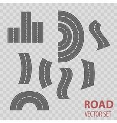 Set of grey roads Concept location vector image