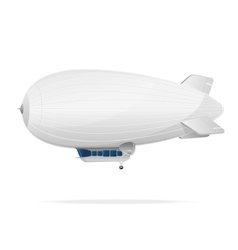 White dirigible balloon on a white background vector image
