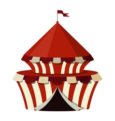 a circus on a white background vector image vector image