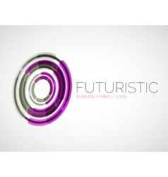 Futuristic circle business logo design vector image