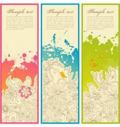 garden banners vector image