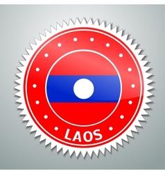Laotian flag label vector image