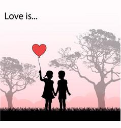 loving kids loving kids vector image