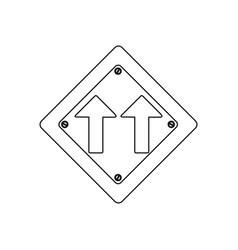 silhouette metallic diamond shape frame same vector image vector image