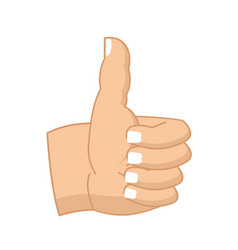 thumbs up hand sign isolated like symbol all vector image