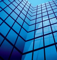 abstract office building design vector image vector image