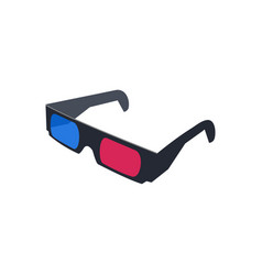 3d glasses logo icon design template isolated vector image