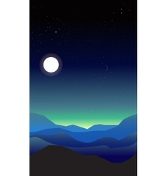 Abstract landscape of a night vector image