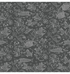 Background of underwater world Seamless pattern vector