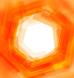 background with orange blurred hexagon vector image