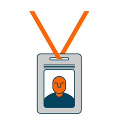 badge isolated pass an employee on white vector image