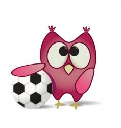 ball and owl vector image