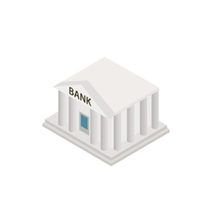 bank building icon isometric 3d style vector image