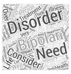 Bipolar support word cloud concept vector