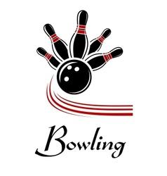 Bowling sports symbol vector