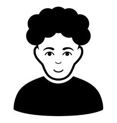 Brunet Man Flat Icon vector