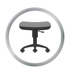 Chair rolling icon cartoon Single tattoo icon vector