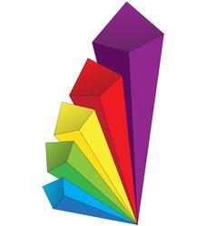 Colored volumetric arrows vector image