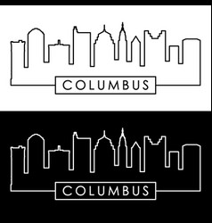 Columbus skyline linear style editable file vector