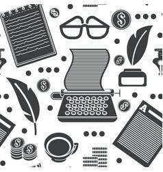 Copyright symbols typewriter and ink pot vector