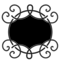 curves engraving vector image vector image