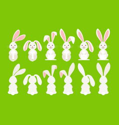 Cute easter cartoon bunny vector