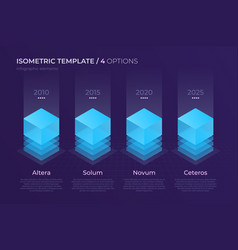 Design with isometric elements template vector