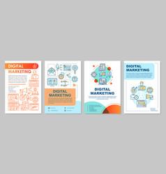 Digital marketing brochure template layout smm vector