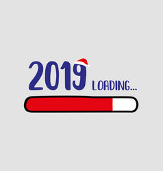 Doodle red download bar2019 loading text vector