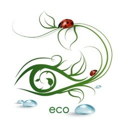 eco banner vector image