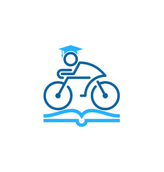 education bike logo icon design vector image