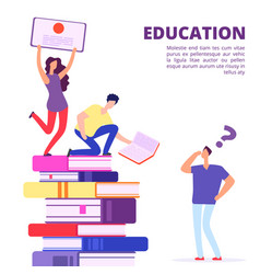 education through books and self-study vector image