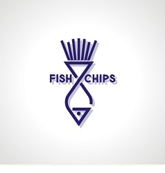 Fish and Chips Icon vector