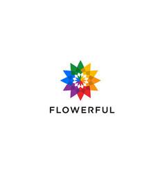 flower logo design concept vector image