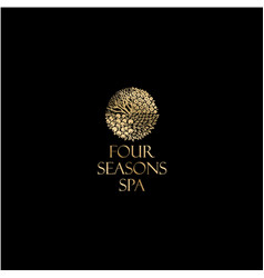 four season logo spa emblem vector image