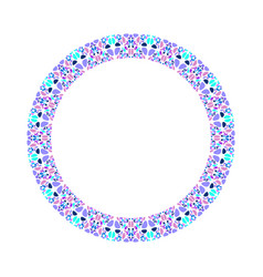Geometrical mosaic circle - abstract round element vector