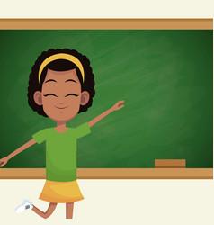 girl student chalkboard classroom vector image