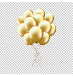 golden balloons sheaf vector image