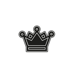 golden crown icon - king crown - queen symbol vector image