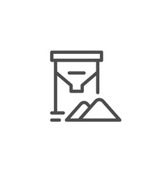 grain tank line icon vector image