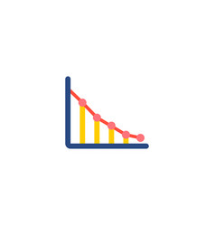 graph icon flat element of vector image