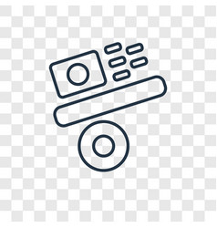 gravity concept linear icon isolated on vector image