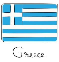 Greece doodle flag vector